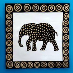 275_Afrique_Eléphants30 Animal Art Projects, Animal Crafts For Kids, Art For Kids, Elephant Art, African Elephant, African Animals, Elephant Afrique, Afrique Art, Preschool Coloring Pages