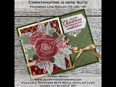 Christmastime Is Here Suite Gift Card Holder--FB Replay Christmas Rose, Christmas Time Is Here, Stampin Up Christmas, Christmas 2019, Handmade Christmas, Paypal Gift Card, Gift Card Giveaway, Itunes Gift Cards, Free Gift Cards