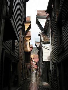 Between the Houses - Bryggen Norway