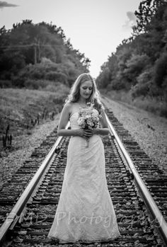 Railroad, Bride, Wedding