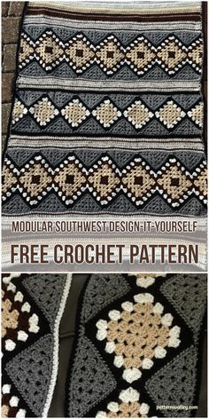 Modular SouthWest Design-it-Yourself [Free Crochet Pattern] #crochet #freepattern #crochetlove