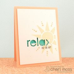 Awesome card created by Chari Moss using brand new Simon Says Stamp from the Color of fun release.