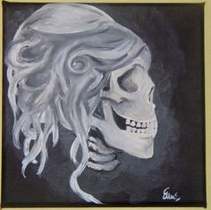 Gothic Skull Drawings | beautiful Gothic skull painting