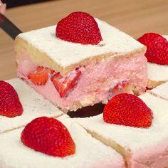 Sweet Recipes, Cake Recipes, Dessert Recipes, Candy Cakes, Cupcake Cakes, Blue Cakes, Brownie Cake, Mini Desserts, Food Porn