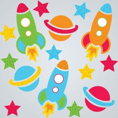Let your imagination zoom into space with these spaceship window clings!