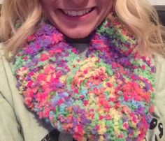 Hand Knitted Colorful Baby Soft Yarn Infinity Scarf Super Soft  by KnittingQueen2013 on Etsy https://www.etsy.com/listing/214471416/hand-knitted-colorful-baby-soft-yarn