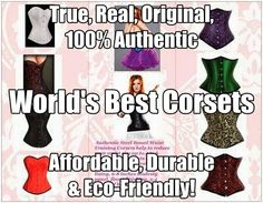 Corsets-USA-True-Real Corsets Organic USA #Corsets Organic Corset Co. USA-The largest supplier of true, real and 100% authentic organic corsets!
