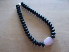 wood & quartz Pearl Necklace, Beaded Necklace, Quartz, Pearls, Wood, Bracelets, Jewelry, String Of Pearls, Beaded Collar