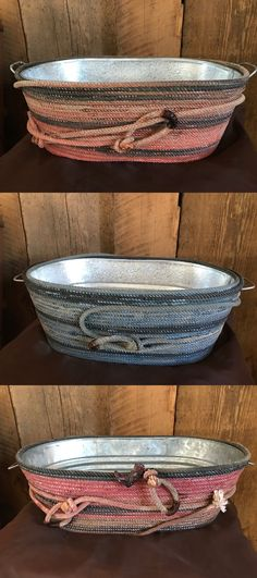 Baskets 134306: Lariat Rope Galvanized Tub, Medium, Handcrafted, Western Decor, Many Uses -> BUY IT NOW ONLY: $285 on eBay!