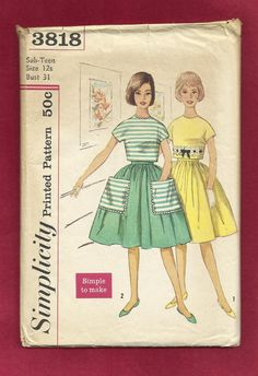 1950's Simplicity 3818 Very Full Gathered Skirt & by MrsWooster, $10.00