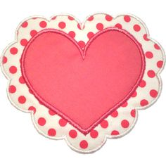 Heart Doily Applique Design