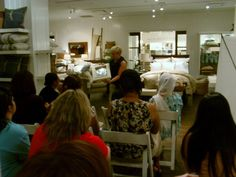 Pottery Barn Event - This is a class about accessorizing a home.