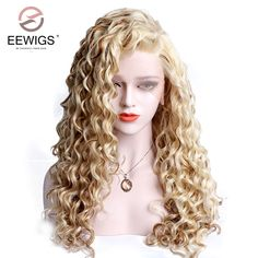 Vnice Honey Blonde Loose Wave Wig Middle Part Synthetic Lace Front Wig Medium Length Heat Resistant Fiber Hair For Women Synthetic Lace Wigs