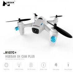 Hubsan X 4 CAM Plus H107C + 2,4 G 4-Kanal 6-Achs-RC-Quadcopter Drohne w / 2MP Kamera 720p RTF weiß