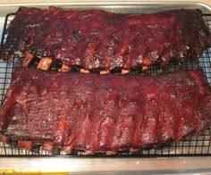 This instructable is for delicious smoked spare ribs that have been cut down to a St Louis cut. You can easily use the same recipe for loin back ribs if that is your preference. Just remember that this is BBQ and there are no set cooking times. Your BBQ is done when it's done. Usually plan on about 5-6 hours of cooking time when cooking at 225F. The ambient temperature, humidity, wind, and size of your racks of ribs will all influence your cooking time so make s...