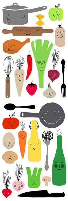 Icons for food blog 'Matmisjonen.no' by Katinka Pisani and Commando Group