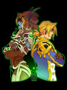 Sylvanas and Anduin by Danni Beth (Whinecraft)