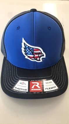 purchase cheap 489e1 15ddb Liberty Blue Jays 172 American Flag Logo Stretch Fit Hat by Richardson