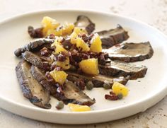 Portobello Carpaccio with Orange-Kalamata Tapenade