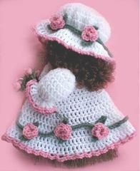 """Click the banners below for more of our most popular patterns, available via mail or download!  ROSE BROOM DOLL FP183  FINISHED SIZE:Approximately 12"""" tall."""