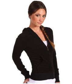 Juicy Couture Micro Terry Hoodie in Black $96.00