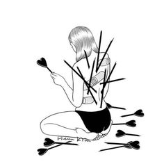 Korean artist Henn Kim creates minimalist black and white illustrations of those moments we feel lost in our own loneliness after a breakup. Sad Drawings, Pencil Art Drawings, Art Drawings Sketches, Heartbroken Drawings, Heartbroken Art, Heartbroken Pictures, Heartbreak Art, Meaningful Drawings, Henn Kim