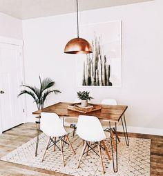 dining room | mid century | modern | industrial | california | decor | californian | desert | gold | minimal | minimalist