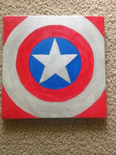 Captain America Canvas Create a canvas for each super hero & place the words…
