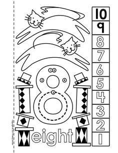 Number book with dot to dot counting component. 1-10 and 11-20 also available.