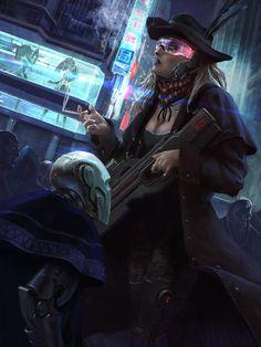 Cyberpunk Western by Klaus Pillon   Sci-Fi   2D   CGSociety