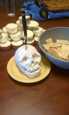 Halloween 2011 - Skull cheese ball