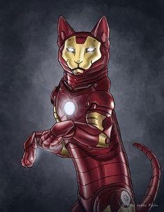 Iron Man Kitty, by Jenny Parks
