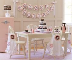 Baking Birthday Party| A beautifully styles girls birthday party to have at home. Pottery Barn Kids free printables