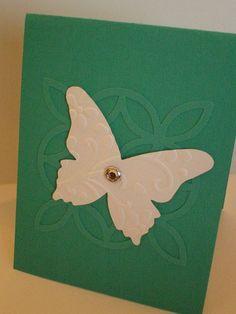Handmade card featuring Lattice Bigz Die & Beautiful Butterflies Bigz Dies by Stampin' Up!
