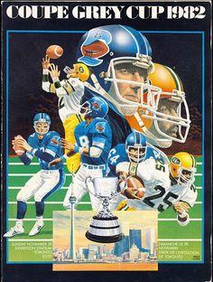 1982 Grey Cup program