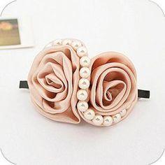 S型珍珠大花边花朵 发夹 发饰