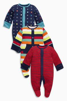 Kaufen Sie Three Pack Red Stripe And Stars Sleepsuits (0-2 Jahre) heute online bei Next: Deutschland