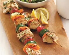Lemon & Basil Chicken Veggie Kebabs    PER SERVING:  Net Carbs: 7 grams  Total Carbs: 9 grams  Fiber: 2 grams  Protein: 41 grams  Fat: 17 grams  Calories: 360  Makes: 4 servings