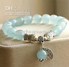 Blue Chalcedony Bracelet Mermaid Sea Blue Chalcedony Jewelry Crystal Bracelet…