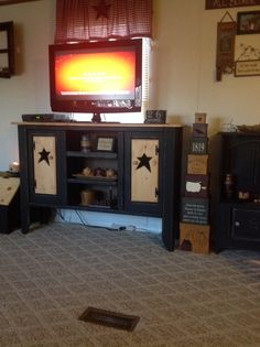 My TV stand made by my son in law!
