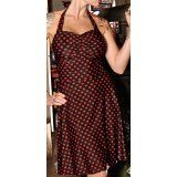 Folter Clothing HEARTBREAKER HALTER DRESS in Black & Red (Apparel)By Folter