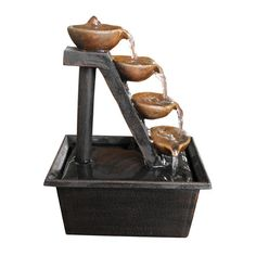 Found it at Wayfair - Polyresin 4 Tier Tabletop Fountain
