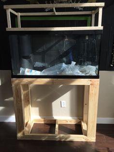 90 Gallon Reef Tank Build New to the Hobby Aquarium Hood, Saltwater Aquarium, Diy Aquarium Stand, Aquarium Ideas, Woodworking, Entertaining, Aquariums, Wood Work, Pets