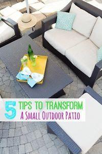 5 Tips to Transform a Small Patio Into a Fabulous Outdoor Space   eBay
