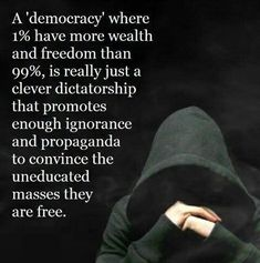 There is an awakening going on. The 1% knows this and are fighting it with all of their power. They will lose it all because to them too much is never enough.