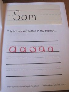 """My Name Book"" for preschoolers to practice writing their name!"