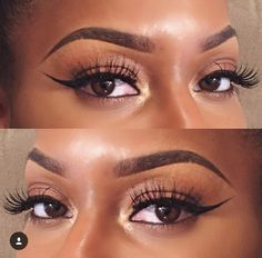 best Ideas wedding makeup looks black women eyeshadows Natural Wedding Makeup, Wedding Makeup Looks, Natural Makeup, Natural Eyebrows, Natural Hair, Black Girl Makeup, Girls Makeup, Black Women Hairstyles, Diy Hairstyles