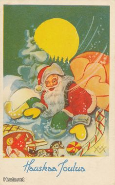 New Year Postcard, Vintage Christmas Cards, Old Toys, Yule, Old Things, Childhood, Santa, Album, History