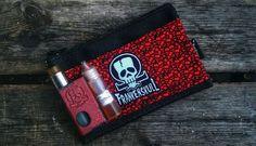Black Crypt pouch FrankenSkull logo