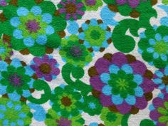 vintage 1960s terry towelling fabric